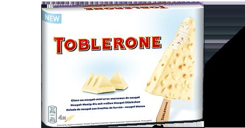 Wit Toblerone Ijslolly